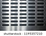 stainless steel grating with... | Shutterstock . vector #1195357210