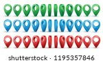 shiny colorful metal realistic... | Shutterstock .eps vector #1195357846