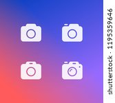 photo camera icon set  isolated.... | Shutterstock .eps vector #1195359646