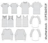 vector template for striped... | Shutterstock .eps vector #1195360519