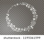 snowflakes circle frame on a... | Shutterstock .eps vector #1195361599