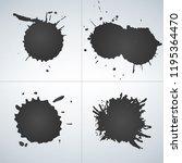 vector set of ink splashes  ink ... | Shutterstock .eps vector #1195364470
