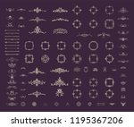 vintage decor elements and... | Shutterstock .eps vector #1195367206