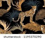 seamless vector tropical marine ... | Shutterstock .eps vector #1195370290