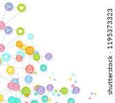 social media marketing ... | Shutterstock .eps vector #1195373323