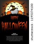 halloween pattern. golf ball... | Shutterstock .eps vector #1195374100