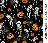 Dancing Halloween Skeletons And ...