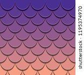 mermaid tail pattern. paper cut ... | Shutterstock .eps vector #1195374970