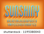 condensed 3d display font... | Shutterstock .eps vector #1195380043