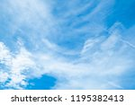 beautiful blue sky clouds for... | Shutterstock . vector #1195382413