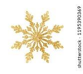 gold glitter texture snowflake... | Shutterstock .eps vector #1195390369