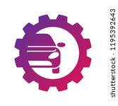 repair car logo  silhouette car ...   Shutterstock .eps vector #1195392643