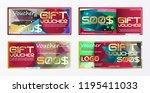 gift certificate voucher coupon ... | Shutterstock .eps vector #1195411033
