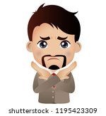 people show a gesture no or stop | Shutterstock .eps vector #1195423309