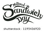 november 3   national sandwich... | Shutterstock .eps vector #1195436920