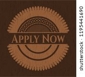 apply now wood emblem. retro | Shutterstock .eps vector #1195441690
