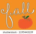happy fall pumpkin | Shutterstock . vector #1195443139
