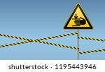 caution  hands may be injured.... | Shutterstock .eps vector #1195443946