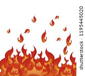 fire flame pattern background | Shutterstock .eps vector #1195445020