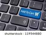 add to cart button  for e... | Shutterstock . vector #119544880
