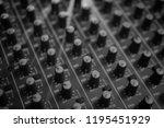 mixers mixing console audio...   Shutterstock . vector #1195451929