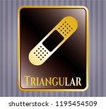 golden emblem with bandage... | Shutterstock .eps vector #1195454509