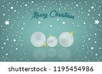merry christmas card  miracle... | Shutterstock . vector #1195454986