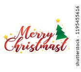 merry chirstmast greeting card | Shutterstock .eps vector #1195455616