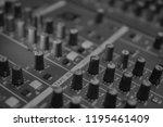 mixers mixing console audio...   Shutterstock . vector #1195461409