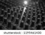 mixers mixing console audio...   Shutterstock . vector #1195461430