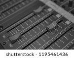 mixers mixing console audio...   Shutterstock . vector #1195461436