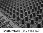 mixers mixing console audio...   Shutterstock . vector #1195461460