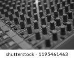 mixers mixing console audio...   Shutterstock . vector #1195461463