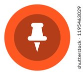 thumbtack vector icon | Shutterstock .eps vector #1195463029