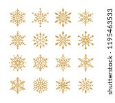 set of snowflakes christmas... | Shutterstock .eps vector #1195463533