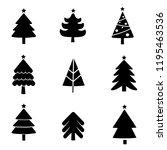 set of christmas tree design...   Shutterstock .eps vector #1195463536