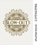 brown money style emblem or...   Shutterstock .eps vector #1195463986