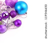 colorful christmas ball on...   Shutterstock . vector #119546650