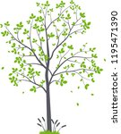beautiful tree branch with... | Shutterstock .eps vector #1195471390