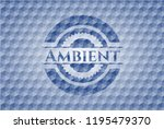 ambient blue emblem or badge... | Shutterstock .eps vector #1195479370