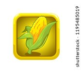 corn illustration icon with...