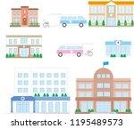 buildings related to nursing...   Shutterstock .eps vector #1195489573