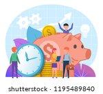 savings growth  profitable...   Shutterstock .eps vector #1195489840