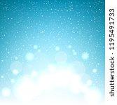 christmas magic glowing snow... | Shutterstock . vector #1195491733
