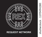 request network  coin rex... | Shutterstock .eps vector #1195494280