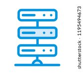 server storage database | Shutterstock .eps vector #1195494673