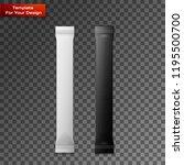 white and black blank foil... | Shutterstock .eps vector #1195500700