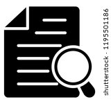 document with magnifier  search ...