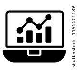 line graph on laptop screen... | Shutterstock .eps vector #1195501189