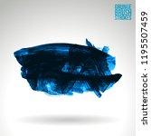 blue brush stroke and texture.... | Shutterstock .eps vector #1195507459